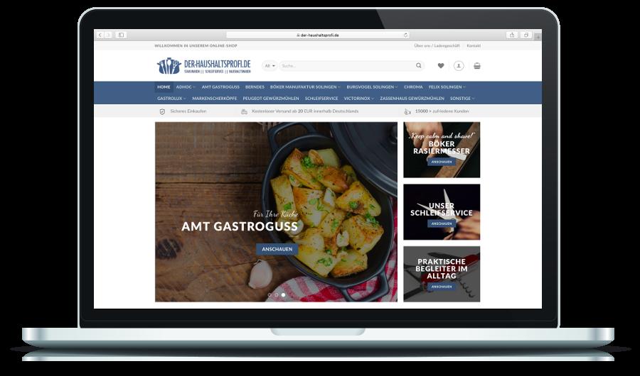 Der Haushaltsprofi (Online-Shop) - Appizentrum - moderne Website ...